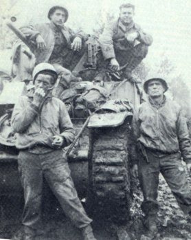 Tankcrew of Sherman